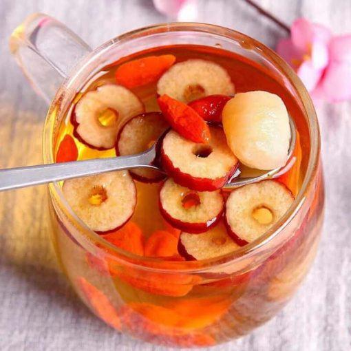 cách ngâm rượu táo đỏ