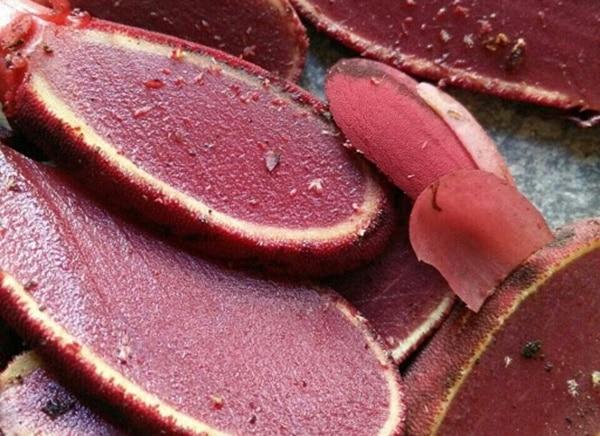 Nấm ngọc cẩu ruột tím